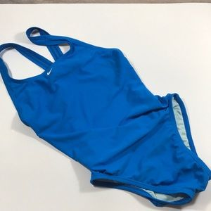 Nike one piece blue swimsuit 34 8